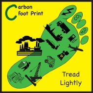 sticker corbon footprint