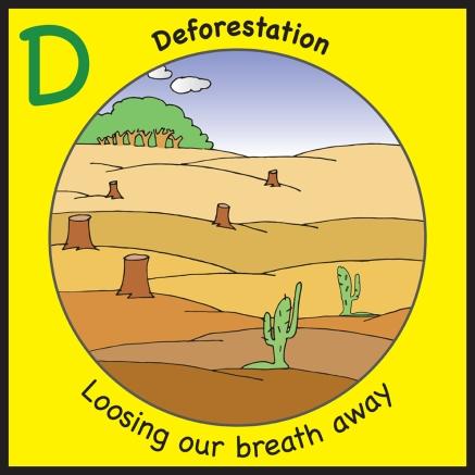 sticker deforestation
