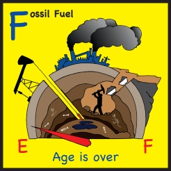 sticker fossil fuels