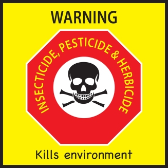 sticker warning pesticide